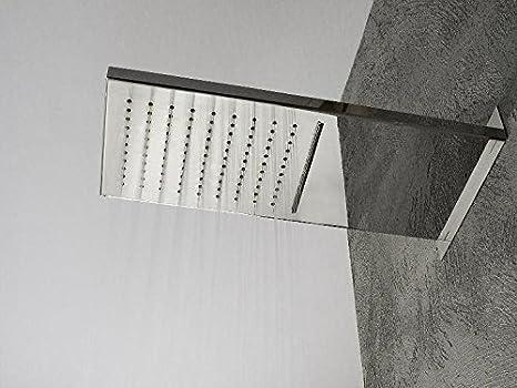 Treemme soffione doccia rettangolare a parete con cascata cm
