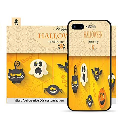iPhone 7p / 8p Ultra-Thin Phone case Poster Banner or Background for Halloween Party Night Resistance to Falling, Non-Slip, Soft, Convenient Protective case