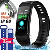 IP67 Fitness Tracker Smart Watch with Heart Rate Blood Pressure Monitor Color Screen Activity Tracker Smart Wristband Sleep Monitor Calorie Counter Pedometer 4 Sports mode Swim Run for Kids Women Men