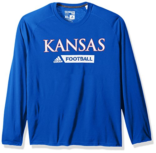 adidas NCAA Grand Valley State Lakers Adult Men Sideline Gridiron Ultimate L/S Tee, X-Large, Collegiate ()