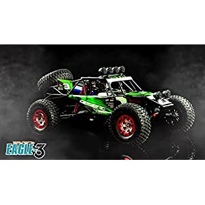 Tecesy RC Truck 4WD Electric Desert Off-Road Racing Car 1/12 Scale High Speed Brushless Remote Control Buggy with 2838 4500kv Brushless Motor