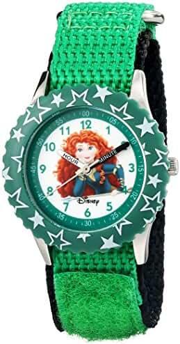 Disney Kids' W000965 Merida Stainless Steel Time Teacher Green Watch