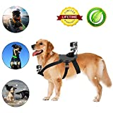 Dog Harness Mount Chest Strap Mount for GoPro HERO 6 /5 /5/4/3+ Session DBPOWER AKASO VicTsing APEMAN WiMiUS Rollei QUMOX Lightdow Campark Sony Sports DV and More