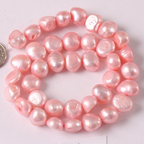 Joe Foreman Dyed 9-10mm Freshwater Cultured Pearl Potato Freeform Loose Beads For Jewelry Making Wholesale Beads Pink (Natural Mother Of Pearl Necklace)