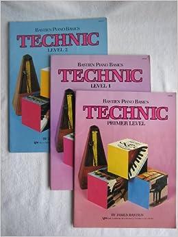 bastien piano basics technic 3 books primer lever level 1 and level 2