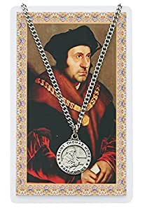 Amazon Com Catholic Saints Necklace For Men Or Women