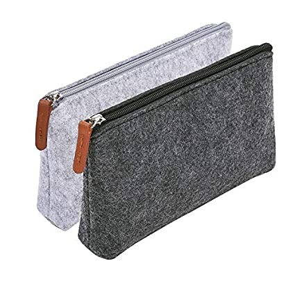 3a1db16035af Amazon.com : Morepack 2 Pack Pencil Case Pencil Pouch, Pencil Bag ...