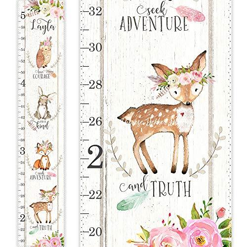Chart Height Bunny - Growth Chart, Height Chart, Woodland Growth Chart, Floral Growth Chart, Woodland Nursery, Nursery Decor, Boho Tribal Chart, Boho Nursery Art
