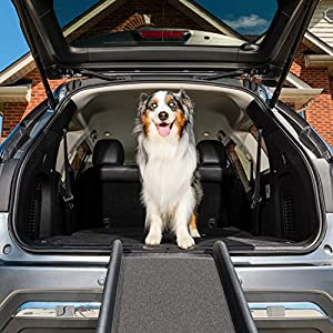 PetSafe Happy Ride Folding Dog Ramp – Portable Lightweight Dog and Cat Ramp – Great for Cars, Trucks and SUVs – Durable… Click on image for further info.