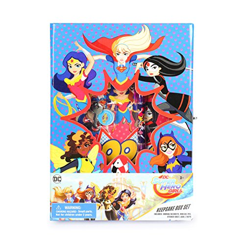 DC Super Hero Girls Keepsake Box Set with Journal / Diary, Gel Pen, Sticker Sheet, Lock and Keys by DC Super Hero Girls