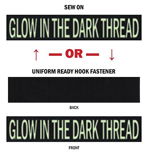 Northern Safari Custom Glow-in-The-Dark Uniform Name Tapes, Over 50 Fabrics Made in The USA! Black 6 Uniform Ready Hook Fastener