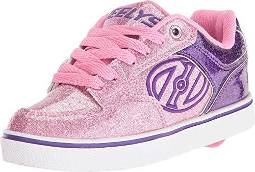 Heelys Unisex Motion Plus (Little Kid/Big Kid/Adult) Purple/Pink Glitter 5 M US Big Kid (X2 Skate Shoes)