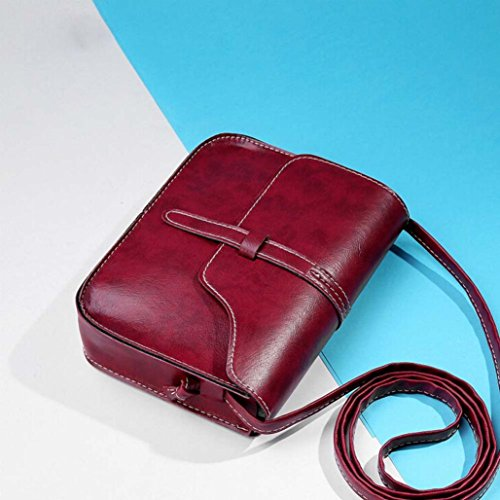 Paymenow Bag Body Crossbody Messenger Shoulder Leisure Bag Leather Little Cross Shoulder Bag Red Handle BA5warwqY