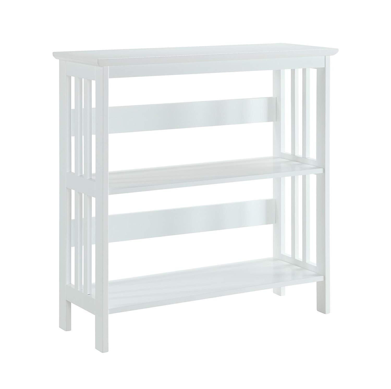 Convenience Concepts Mission 3-Tier Bookcase, White