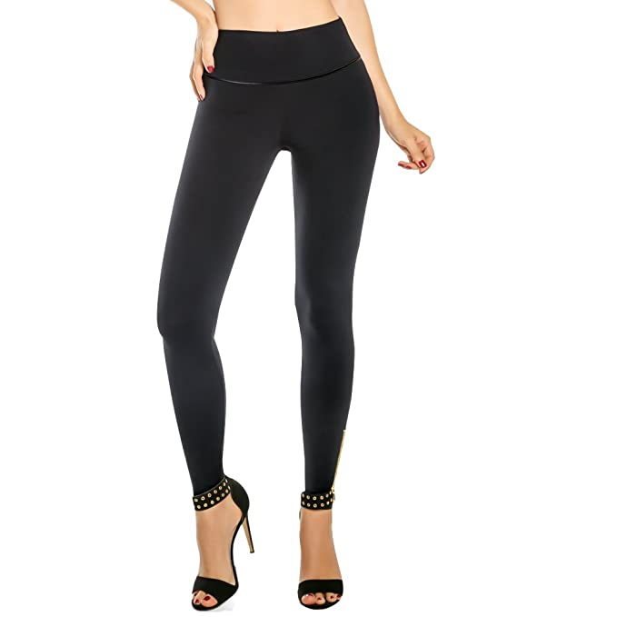 6622c0e59343dd Aranza Black Leggings for Women Thick High Waist Tummy Control Compression  Butt Lifter Pants at Amazon Women's Clothing store: