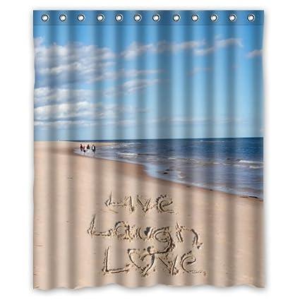 60quotwidthx72quotlengthLive Laugh Love On Blue Sky