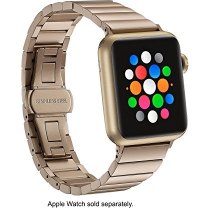 (Platinum - Link Stainless Steel Band for Apple Watch 38mm - Matte gold)