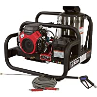 - NorthStar Gas-Powered Hot Water Pressure Washer Skid - 4000 PSI, 4.0 GPM, Honda Engine