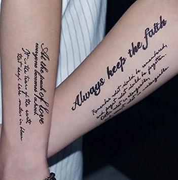 Nd Tatouage Temporaire Femme Homme Tattoo Ephemere Autocollants Diverses Belles Phrases Amazon Fr Beaute Et Parfum