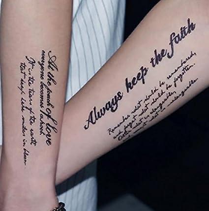 Nd Tatouage Temporaire Femme Homme Tattoo Ephemere Autocollants Diverses Belles Phrases