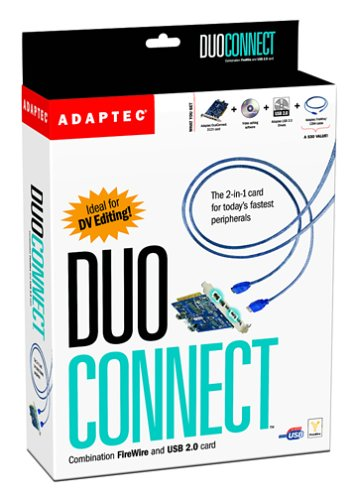 Adaptec USB 2.0/1394 Combo Card PCI 3-Port USB 2.0 & 2-Port Firewire MAC/PC (1923200) by Adaptec