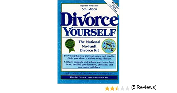 Divorce yourself the national no fault divorce kit daniel sitarz divorce yourself the national no fault divorce kit daniel sitarz 9780935755930 amazon books solutioingenieria Image collections