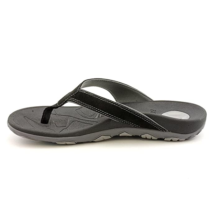 41ae090241a Orthaheel Bryce Orthotic Flip Flops for Men Black Grey - 7 M US UK Size    6  Amazon.co.uk  Shoes   Bags
