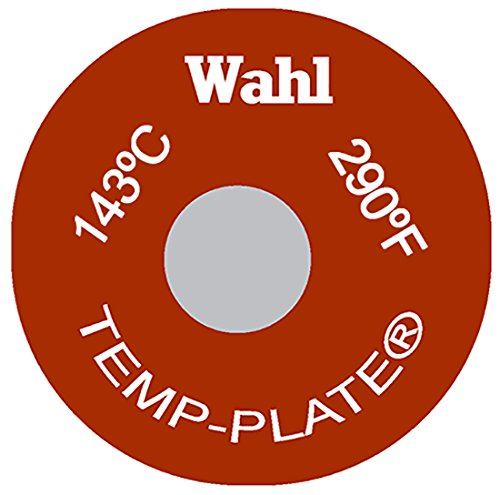 Wahl Instruments 414-290F-143C Round Single Position Temp-Plate, 290 degrees F and 143 degrees C (Pack of 20) Inc.