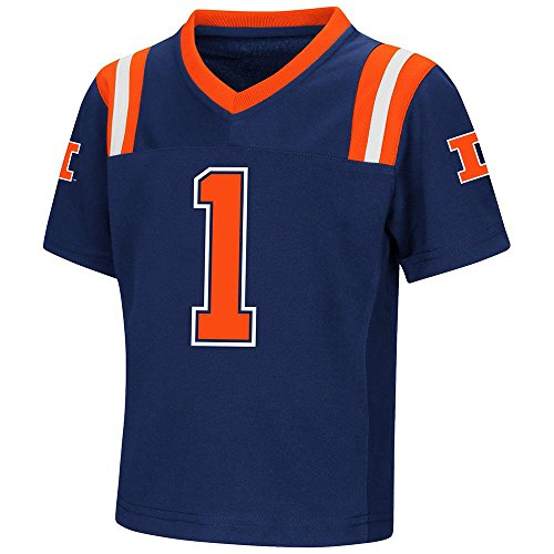 Colosseum Toddler Illinois Fighting Illini Football Jersey - 3T