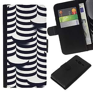 All Phone Most Case / Oferta Especial Cáscara Funda de cuero Monedero Cubierta de proteccion Caso / Wallet Case for Samsung Galaxy A3 // 3D Art Coin White Black Building
