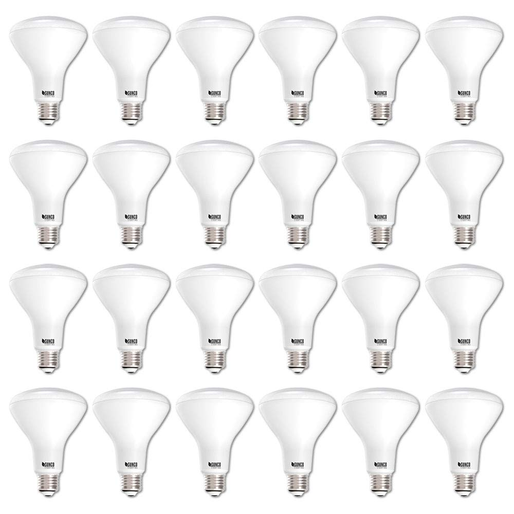 Sunco Lighting 24 Pack BR30 LED Bulb 11W=65W, 3000K Warm White, 850 LM, E26 Base, Dimmable, Indoor/Outdoor Flood Light - UL & Energy Star