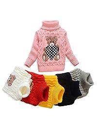 Anluke Cute Cool Kid Turtleneck Sweaters For Christmas Halloween (Girls Boys Baby)