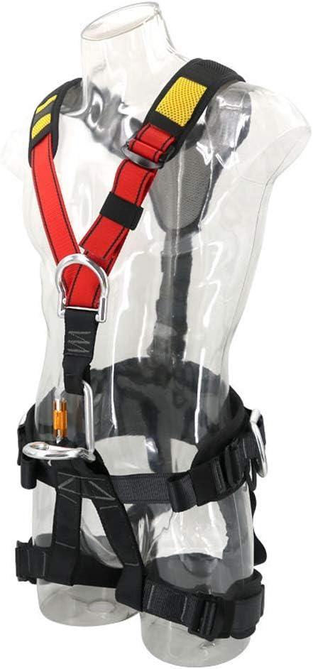 LASTARTS Outdoor-Klettersicherheitsgurt Luftarbeits-Sicherheitsgurt Downhill-Bergsteigergurt Klettern Abseilen Equip Arbeiten in der H/öhe