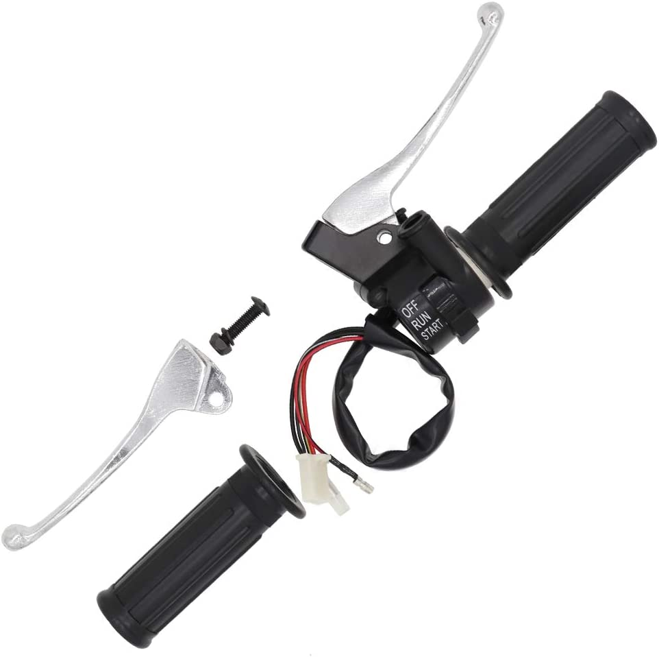 Left/&Right Brake Throttle Cable Switch Lever Hand Grips Kit For YAMAHA PW50 PY50