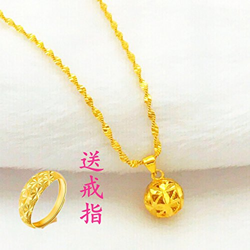 Generic little swan 999 _Vietnamese_shakin_pure_24k_ gold-plated gold _coins_ Europe _does_not_fade_ genuine _artificial_ gold necklace pendant women girl _gold by Generic (Image #5)