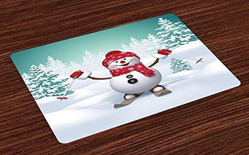 Colchonetas de Navidad, Montaña Cubierta de Nieve con Abetos ...