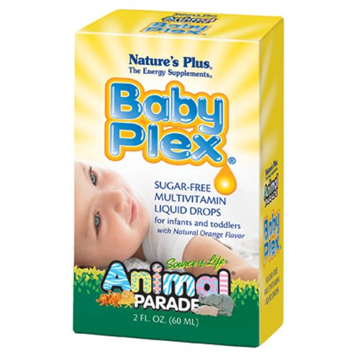 Nature's Plus Animal Parade Baby Plex 2 fl oz (60 ml) (Animal Parade Orange Flavor)