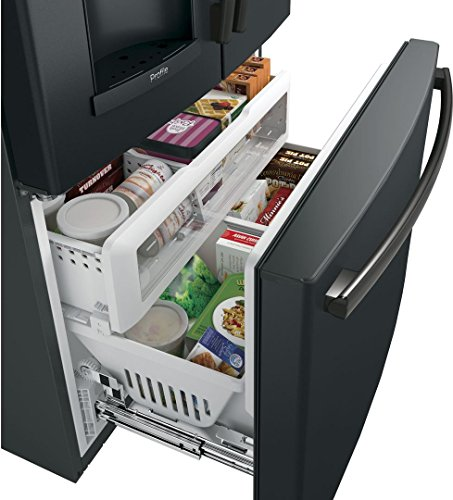 GE PYE22PELDS Smart Door Refrigerator with cu. Total in Slate