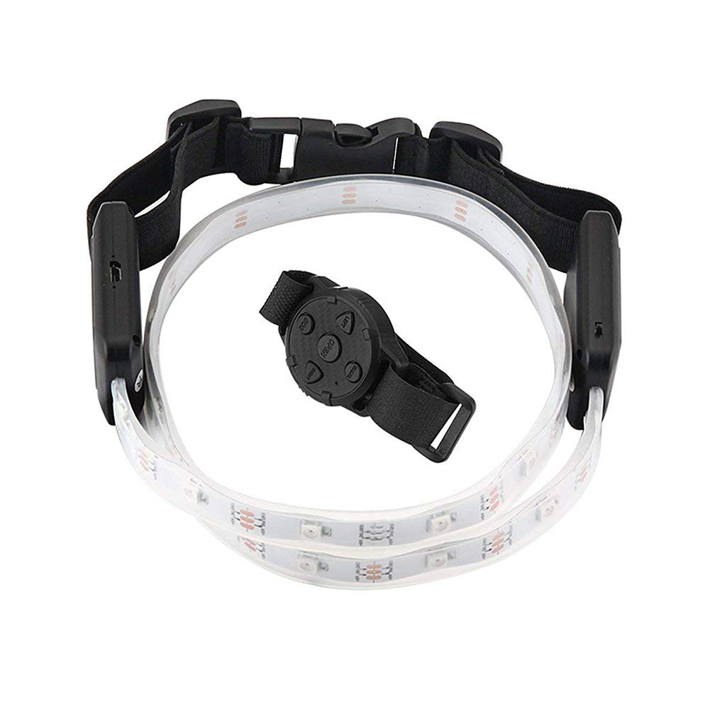 Vorida LED Waist Belt, USB Rechargeable Illuminated Sport Reflective Belt for Running, Walking & Cycling Fully…