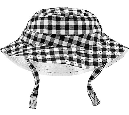 Carter's Boys UPF Bucket Hat (Black Gingham, 3-9 ()