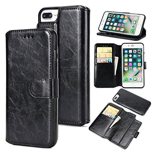 iPhone 8 Plus Case, iPhone 7 Plus Wallet Case   PU Leather F