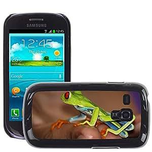 Super Stella Slim PC Hard Case Cover Skin Armor Shell Protection // M00107170 Frog Costa Rica Bright Vivid Jungle // Samsung Galaxy S3 MINI i8190