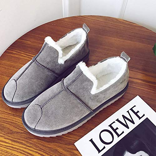 Cozy Plush BUYITNOW Slippers Outdoor House Winter Booties Wide Indoor Fleece Gray Extra Women Shoes IrIwaqxtf