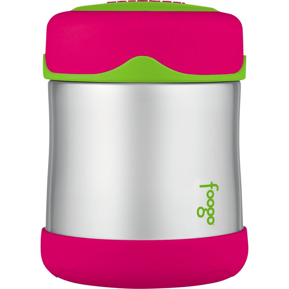 Thermos Foogo Vacuum Insulated Stainless Steel 10-Ounce Food Jar, Watermelon/Green