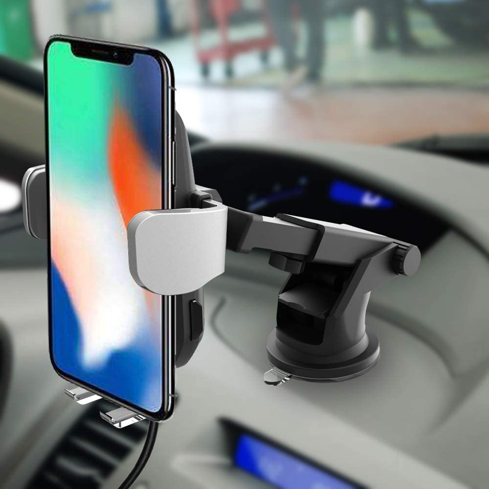 Wireless Car Charger Fast Charging Compatible iPhone Xs MAX//XR//XS//X//8//8 Plus Samsung Galaxy S10//9//8//7//Note 8//9 Auto-Clamping Qi Wireless Charger Car Mount with 360/°Air Vent Holder /& Dashboard