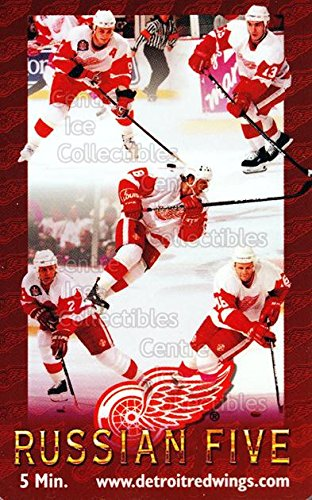 (CI) Igor Larionov, Sergei Fedorov, Vyacheslav Kozlov, Vyacheslav Fetisov, Vladimir Konstantinov Hockey Card 1996 Detroit Red Wings Phone Cards 3 Igor Larionov, Sergei Fedorov, Vyacheslav Kozlov, Vyacheslav Fetisov, Vladimir Konstantinov from Detroit Red Wings Phone Cards