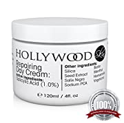 Repairing Day Cream  Now you can get up to 400% better results from the most effective skin-healing day cream available anywhere. Most over the counter day creams contain 0.25% Salicylic Acid, but our Repairing Day Cream gives you 1.0%. This means ou...