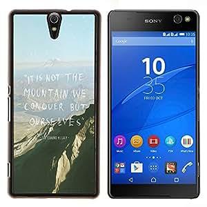 Jordan Colourful Shop - Mountain Conquer High Inspiring Motivational For Sony Xperia C5 Ultra Personalizado negro cubierta de la caja de pl????stico