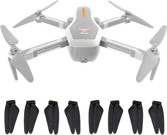 Sdoveb 8pcs Foldable Propellers for SG906 GPS RC Quadcopter Drone (Black)