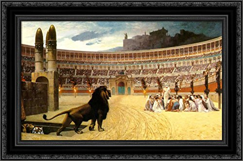 The Christian Martyrs' Last Prayer 24x18 Black Ornate Wood Framed Canvas Art (Ornate Jean)